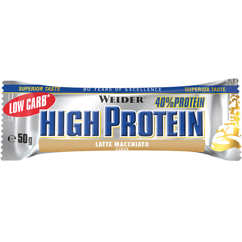 Батончик Weider 40% Low Carb High Protein bar 50 g Латте макиато