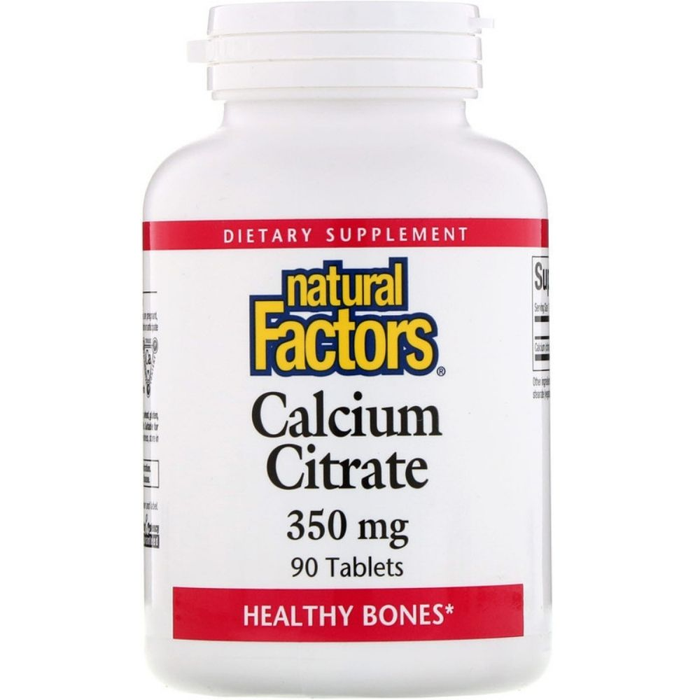 Витамины Natural Factors Calcium Citrate 350 mg 90 tabs