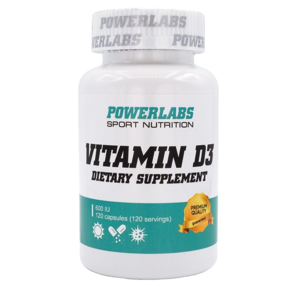 Витамины PowerLabs Vitamin D3 600 IU 120 caps
